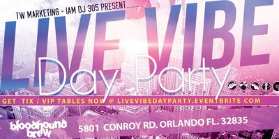 """Live Vibe """"Day Party"""" (Memoral Day Weekend) Edition 2019"""