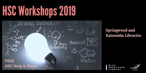 HSC Workshops at Blue Mountains Katoomba Library 2019