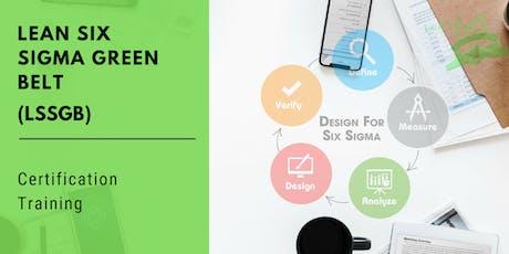 Lean Six Sigma Green Belt (LSSGB) Certification Training in Modesto, CA tickets