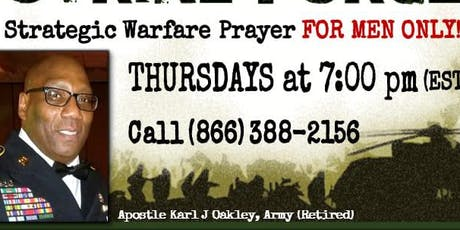 MEN ONLY!  SPECIAL OPERATIONS PRAYER LINE -  Eagles of Fire tickets