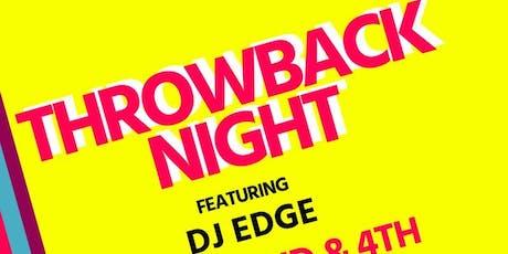 Throwback Night w DJ Edge tickets