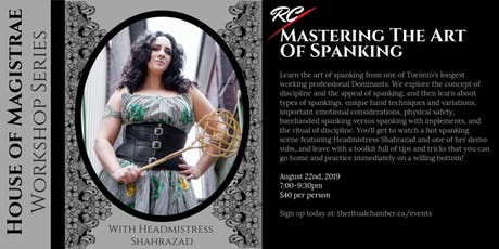 Mastering the Art of Spanking tickets