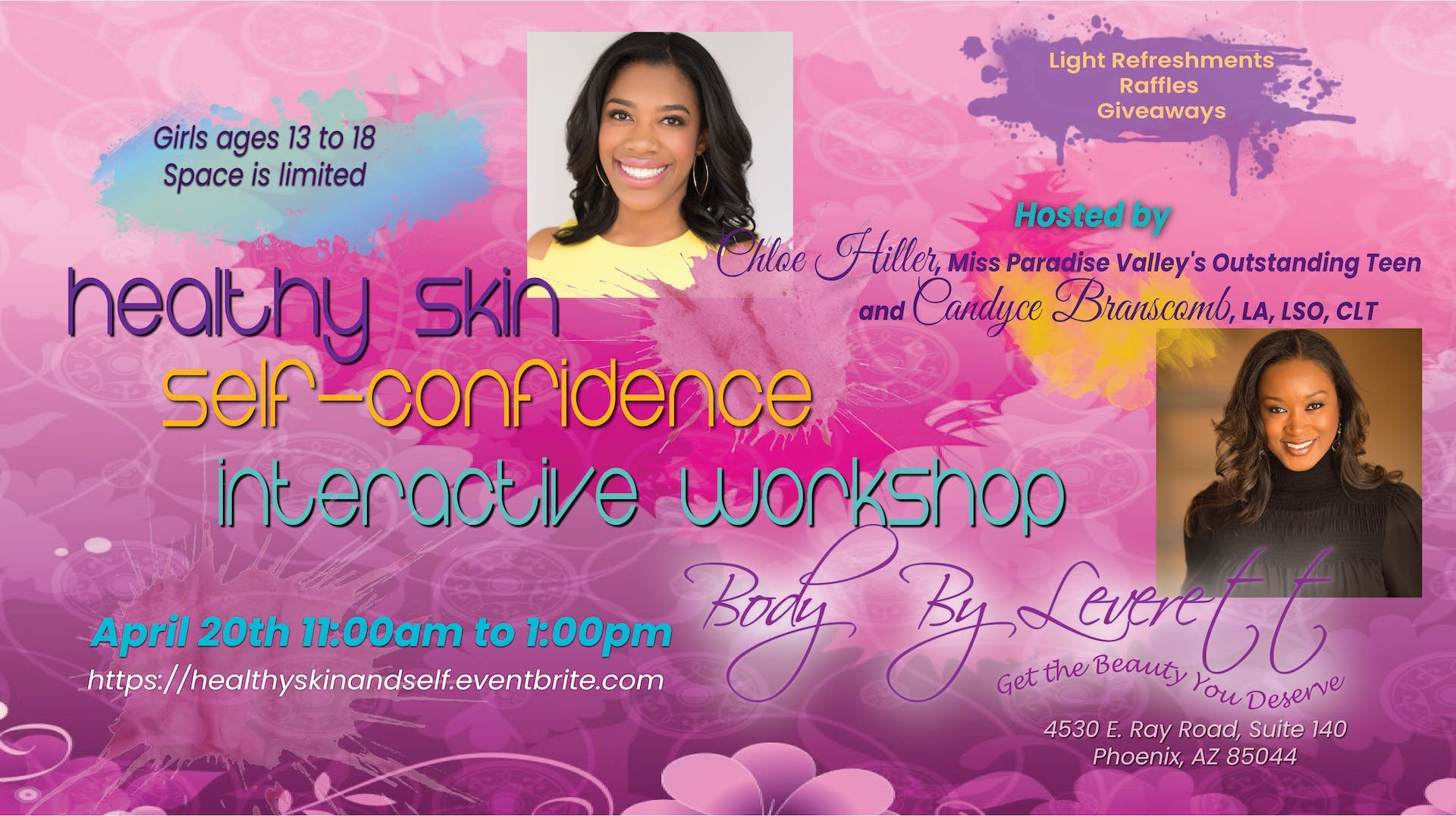 Healthy Skin, Self-Confidence - Interactive Workshop for Teen Girls