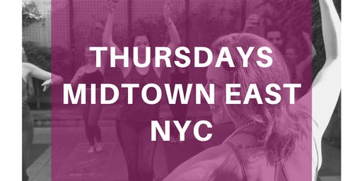Drunk Yoga® at EVEN Hotel...FREE Wine! *Thursdays in Midtown East