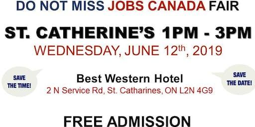 FREE: St Catharine's/Niagara Job Fair – June 12th, 2019