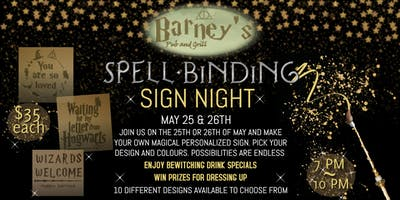Spell-Binding Sign Night