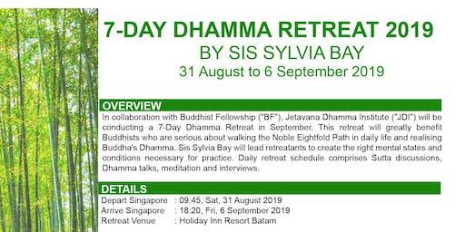 7-Day Dhamma Retreat 2019 by Sis Sylvia Bay
