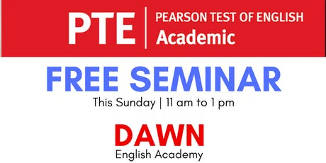 Free Seminar on PTE tickets