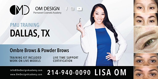 2-DAY Ombre & Powder Brow Training Certification | OM Design Academy