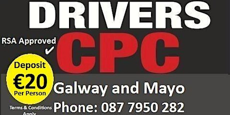 Driver CPC Courses Galway - Advanced Courses for the Professional Driver tickets