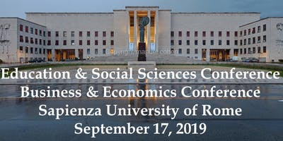 International Academic Conferences Rome, Italy September, 2019