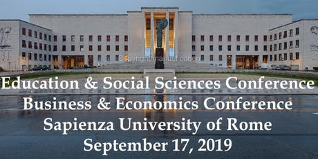 International Academic Conferences Rome, Italy September, 2019 tickets