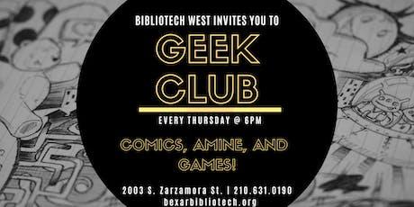 Geek Club tickets