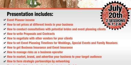 Boost Your Event / Wedding Planning Business  Workshop Bootcamp tickets