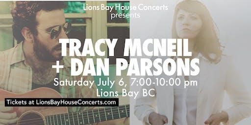LionsBayHouseConcert: Double Bill: Tracy McNeil & Dan Parsons