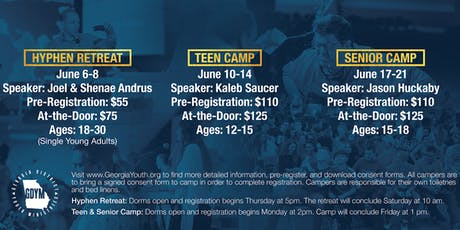 2019 GDYM Camp Registration tickets