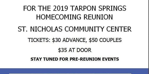 TARPON SPRINGS HOMECOMING REUNION OCTOBER 12TH, 2019.
