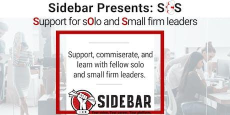 Sidebar Presents: SOS tickets