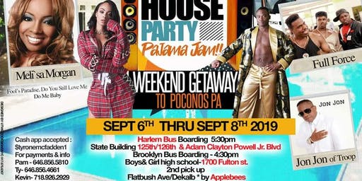 House party pajama jam weekend bus ride