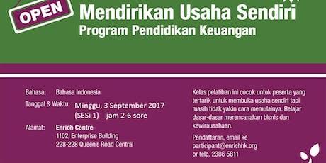 Mendirikan Usaha Sendiri 1-2 / Setting Up Your Business (Bahasa)  tickets