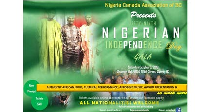 2019 Nigerian Independence Day Gala tickets