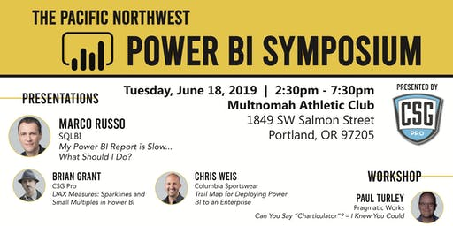 Pacific Northwest Power BI Symposium