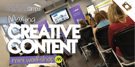 Making Creative Content - Planning Creative Content Workshop tickets