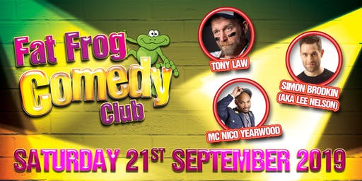 Fat Frog Comedy with Tony Law & Simon Brodkin