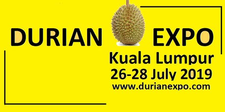 King of Fruits Malaysia's Best Durian Buffet @DurianExpoKL2019 tickets