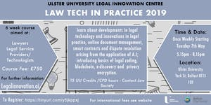 Short Course - Law Tech in Practice 2019