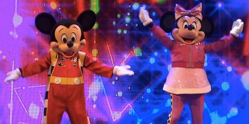 Party with Roadster Racer Mickey and Minnie Mouse