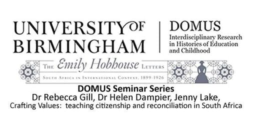 DOMUS Seminar - Dr Rebecca Gill, Dr Helen Dampier, Jenny Lake