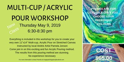 Mulit-Cup Acrylic Pouring Workshop