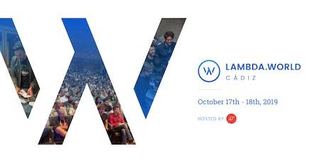 Lambda World Cádiz 2019 entradas