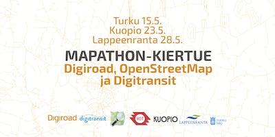 Digiroadin, Digitransitin ja OpenStreetMap Kuopion mapathon