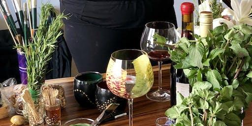 Make your own wine glass souvenir