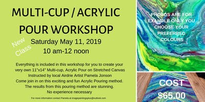 Multi-Cup Acrylic Pouring Workshop