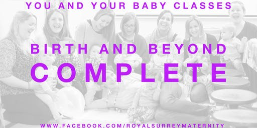 'Birth and Beyond Complete' Package Godalming (Starting August- for due dates in October/November)