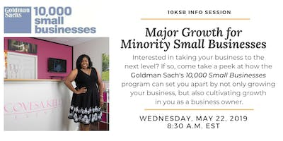 Major Growth for Minority-Owned Small Businesses: Goldman Sachs 10,000 Small Businesses