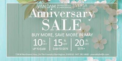 Anniversary Sale at Versa Medi Spa!