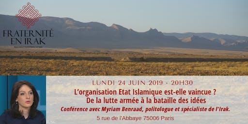 """Conférence """"L'organisation Etat Islamique est-elle vaincue ?"""