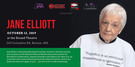 Jane Elliott at The Strand Theatre in Boston tickets