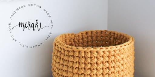 Crochet a Fabric Yarn Basket Class