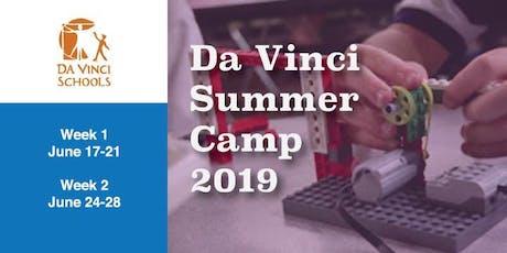 Da Vinci Summer Camp 2019 tickets