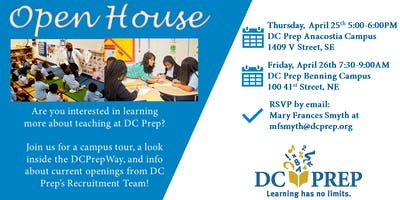TEACH at DC Prep Open House