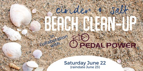 cinder + salt Beach Clean-Up with Pedal Power at Hammonasset State Park tickets