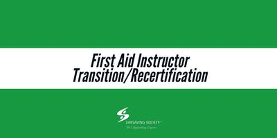 First Aid Instructor Transition/Recertification - Terrace