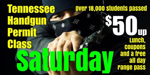 Saturday Apr-May-June HANDGUN PERMIT CLASS $50up w/Pizza & Free Range Pass