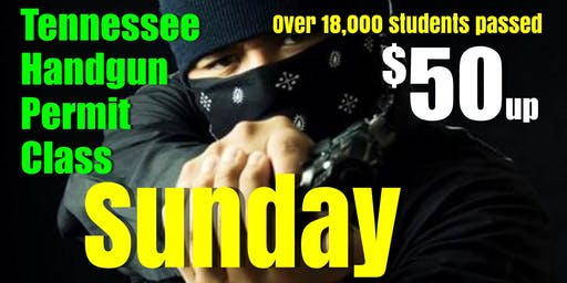 Sunday Apr-May-June HANDGUN CARRY PERMIT CLASS w/Pizza & Range Pass - $50up