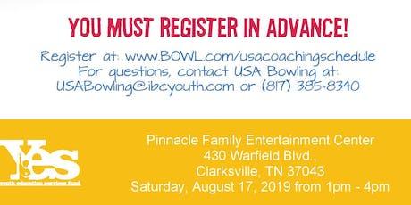 FREE USA Bowling Coach Certification Seminar - Pinnacle Family Entertainment Center,Clarksville, TN tickets